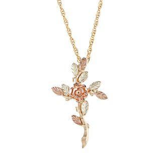 Black Hills Gold Rose Cross Necklace Black Hills Gold Black Hills Gold Necklaces