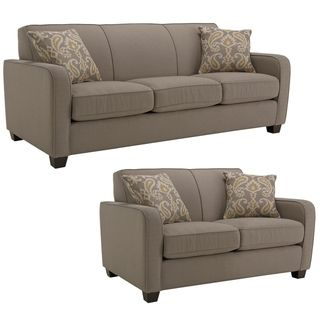 Tribeca Pewter Fabric Sofa and Loveseat Sofas & Loveseats