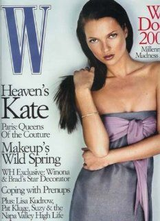 W Magazine   March 1999: Kate Moss Cover and Feature, Lisa Kudrow and More! (Volume 28 Number 3): Editors of W Magazine: Books
