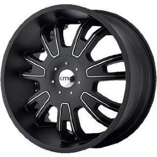 KMC KM664 22x9.5 Black Wheel / Rim 5x115 & 5x5.5 with a 15mm Offset and a 77.80 Hub Bore. Partnumber KM66422926715: Automotive