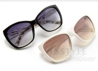 Lace Print Sunglasses, Black and Clear , One Size   SO Central