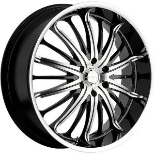 Akuza Belle 22x8.5 Machined Black Wheel / Rim 5x115 with a 35mm Offset and a 74.10 Hub Bore. Partnumber 761085541+35GBMT: Automotive