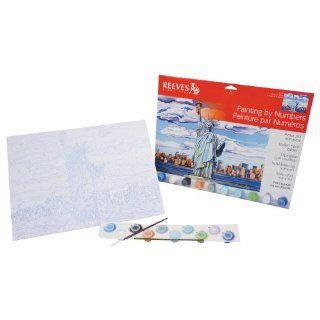 Reeves 12 Inch by 16 Inch Large Paint by Number Kit, Statue of Liberty: Arts, Crafts & Sewing