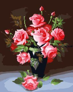 My love rose Acrylic (2013 New DIY paint by number 16*20'' kit) Arts, Crafts & Sewing