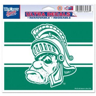 Michigan State Spartans Spartan Head Logo 5x6 Cling Decal  Sports Fan Decals  Sports & Outdoors