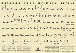 Ashtanga Primary Series Practice Chart   Yoga Mat With Poses
