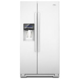 Whirlpool GSF26C4EXW Gold 26.4 Cu. Ft. White Side By Side Refrigerator   Energy Star: Kitchen & Dining