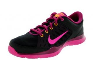 Nike Women's Flex Trainer 3 Blk/Pnk Fl/Rspbrry Rd/Lsr Orng Training Shoe 6 Women US Shoes