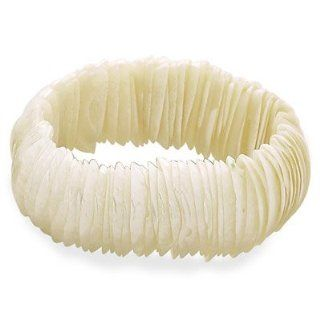 White Shell Stretch Bracelet: West Coast Jewelry: Jewelry
