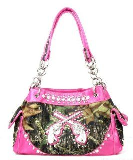 Western Cowgirl Guns Pistol Purse Camouflage Handbag Camo Pink Trim D2: Everything Else