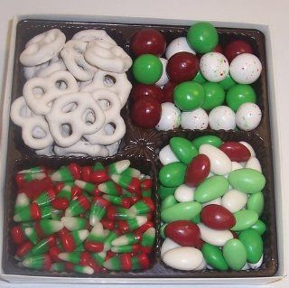 Scott's Cakes Large 4 Pack Reindeer Corn, Christmas Jordan Almonds, Christmas Malt Balls, & White Pretzels : Candy And Chocolate Covered Nut Snacks : Grocery & Gourmet Food