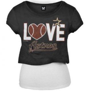 Milwaukee Brewers   Girls Glitter Love Girls Youth T shirt Clothing