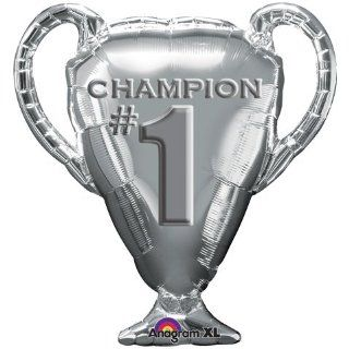 Champion Silver Trophy Cup Supershape 29 inch Mylar Balloon: Everything Else