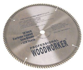 "Professional Woodworker 10"", 120 tooth, C3 Carbide Saw Blade: Home Improvement"