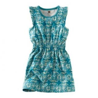 Tea Collection Girls Gili Islands Sporty Dress, Peacock, 7: Clothing