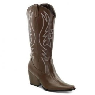 3 Inch Heel Women's Cowboy Boots Cowgirl Boots Western Costume Black Brown: Clothing
