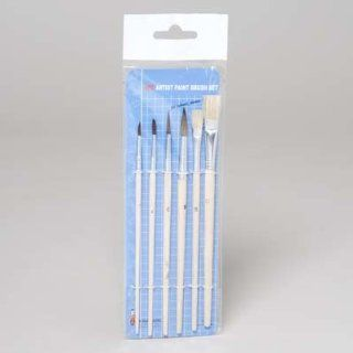 Artist Paint Brush 6 Piece Set (72 Pieces) [Kitchen]