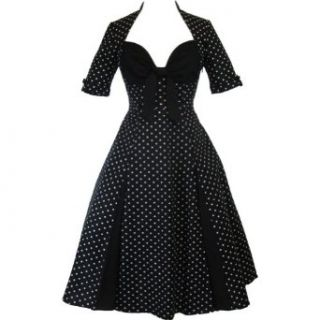 Skelapparel 50's Retro Design Polka Dot Party Swing Dress at  Women�s Clothing store