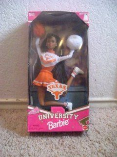 Texas University Barbie African American Cheerleader Doll Toys & Games