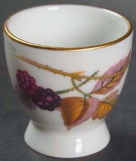 Royal Worcester Evesham Gold (Porcelain) Single Egg Cup, Fine China Dinnerware: Kitchen & Dining