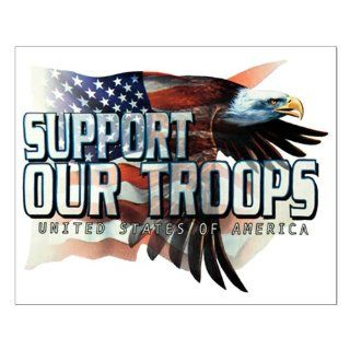 Small Poster Support Our Troops US United States Flag and Bald Eagle: Everything Else