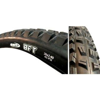 "CST BFT Tire, 26"" x 2.40"", Wire Bead, Black/Black Skinwall : Bike Tires : Sports & Outdoors"