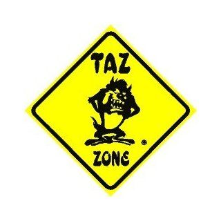 TAZ ZONE humor cartoon joke street sign   Decorative Signs
