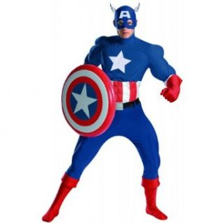 Captain America Rental Costume   X Large   Chest Size 42 46 Clothing