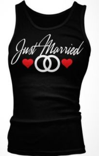 Just Married Junior's Tank Top, Wedding Marriage Just Married Design Boy Beater: Clothing