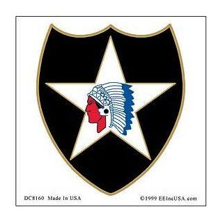 US Military Armed Forces Window Sticker Decal   Army  USN Navy  USMC Marine Corps  USAF Air Force  USCG Coast Guard   2nd Infantry Division Logo: Automotive
