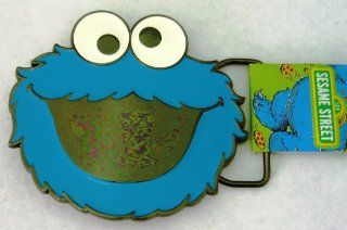 Seasame Street Cookie Monster Officially Licensed Cartoon Character Logo Belt Buckle.