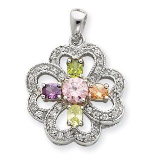 Sterling Silver CZ Pendant: West Coast Jewelry: Jewelry