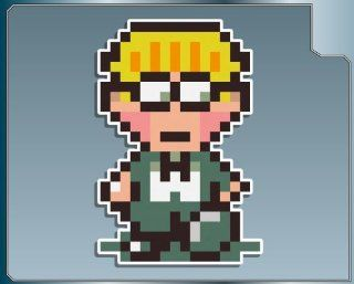 JEFF from Earthbound 8bit vinyl decal sticker: Everything Else