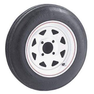 4 Hole High Speed Spoked Rim Design Trailer Tire Assembly   20.5in. x 4.80 x 12: Home Improvement