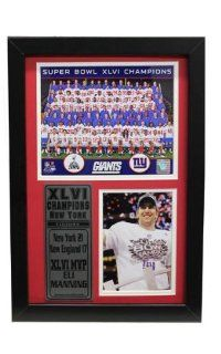 Super Bowl Xlvi Champion New York Giants Eli Manning 12X18 Stat Frame (6 Pieces): Everything Else