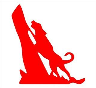 "Coon Hunter Decal Sticker Laptop, Notebook, Window, Car, Bumper, EtcStickers 6""x6.5""in. in RED Exterior Window Sticker with Free Shipping: Everything Else"