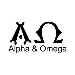 Tattoo Stencil   Symbol for Alpha & Omega   #470: Health & Personal Care