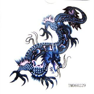 KingHorse Waterproof Temporary Tattoo That Look Real for Men (Awesome Blue Dragon) Beauty