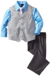 Nautica Dress Up Boys 2 7 Glen Plaid Vest Set, Medium Grey, 5 Clothing