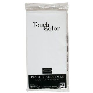 Creative Converting Products   Creative Converting   Plastic Tablecovers, 54 x 108, White   Sold As 1 Each   Disposable plastic tablecloth for easy clean up after a party or gathering.  Cover Stock Papers