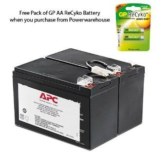 APC BackUPS BR 1500 LCD Battery 12V, 9.0Amp   Genuine APC RBC109 Cartridge #109 Maintenance Free Lead Acid Battery: Everything Else