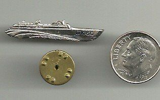 """1960 Presidential MINI Campaign JFK JOHN KENNEDY PT 109 BOAT JK 60 TIE TACK Pinback RARE VERSION    PLEASE SEE NOTES ON DESCRIPTION LENGTH IS APPROX. 1 3/8"""""""