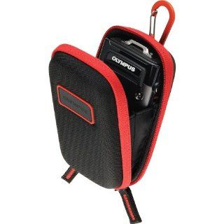 Olympus CSCH 107 BLK Hard Case for TG 1 and  TG 2 Camera (Black with Red Trim): Camera & Photo