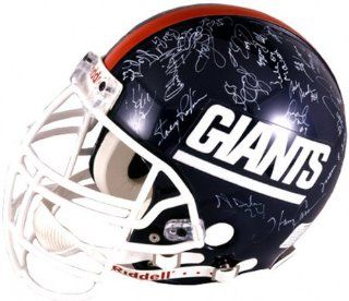 1986 New York Giants Team Signed Autographed Throwback Full Size Helmet : Football Helmets : Sports & Outdoors
