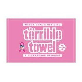 NFL Pittsburgh Steelers Breast Cancer Awareness Pink Terrible Towel : Sports Fan Hand Towels : Sports & Outdoors