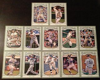 2013 Detroit Tigers Topps GYPSY QUEEN Baseball Complete Mint 12 Basic Card Team Set; It Was Never Issued in Factory Form. Cards Included Are #10 Al Kaline, #23 Cecil Fielder, #36 Avisail Garcia, #49 George Kell, #117 Prince Fielder, #119 Torii Hunter, #155