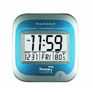 Thomas 1072 Traceable Large LCD Calendar Thermometer Clock, 0.01 Percent Accuracy, 23/122 degree F: Industrial & Scientific