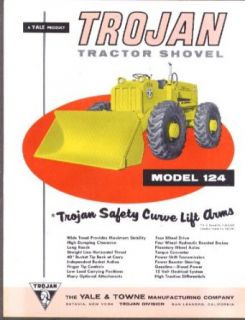 Yale & Towne Trojan Tractor Shovel Model 124 sell sheet 1959: Collectibles & Fine Art