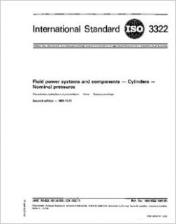 ISO 33221985, Fluid power systems and components    Cylinders    Nominal pressures ISO TC 131/SC 3/WG 1 Books