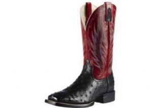 Ariat Men's Cobalt Quantum Brander Full Quill Ostrich Cowboy Boot Wide Square: Shoes